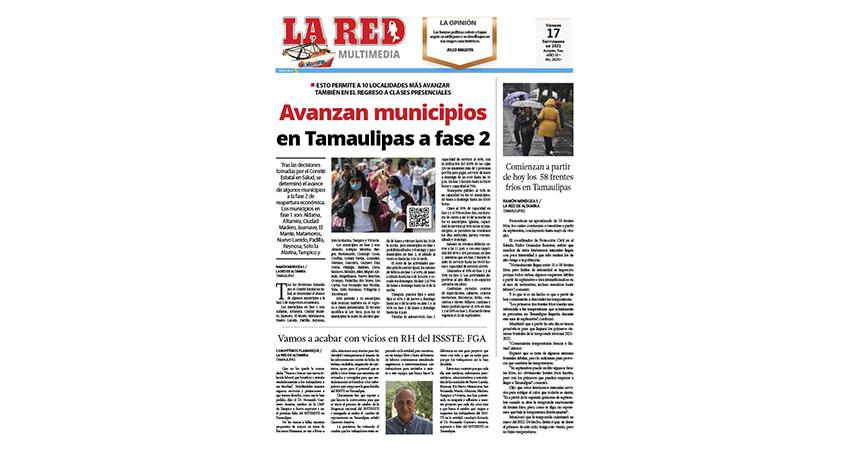 Avanzan municipios en Tamaulipas a fase 2