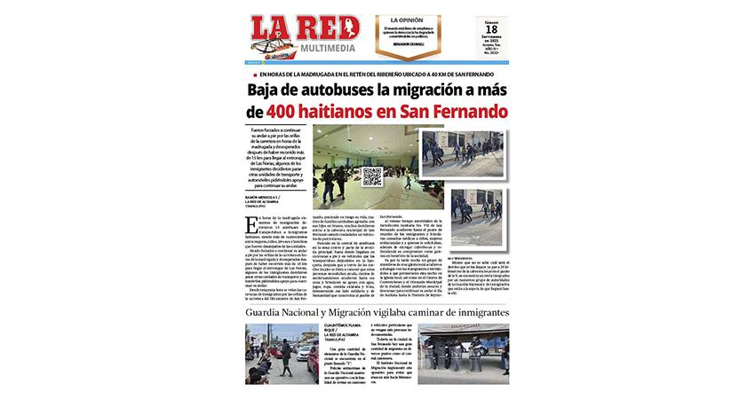 Baja de autobuses la migración a más de 400 haitianos en San Fernando