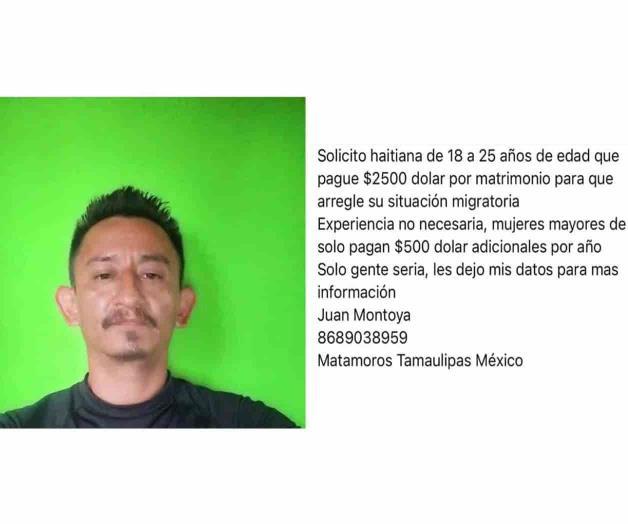 JOVEN DE MATAMOROS VENDE SU AMOR EN 2,500 DOLARES = 52,000 PESOS MEXICANOS