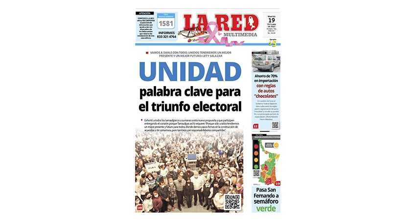 UNIDAD palabra clave para el triunfo electoral