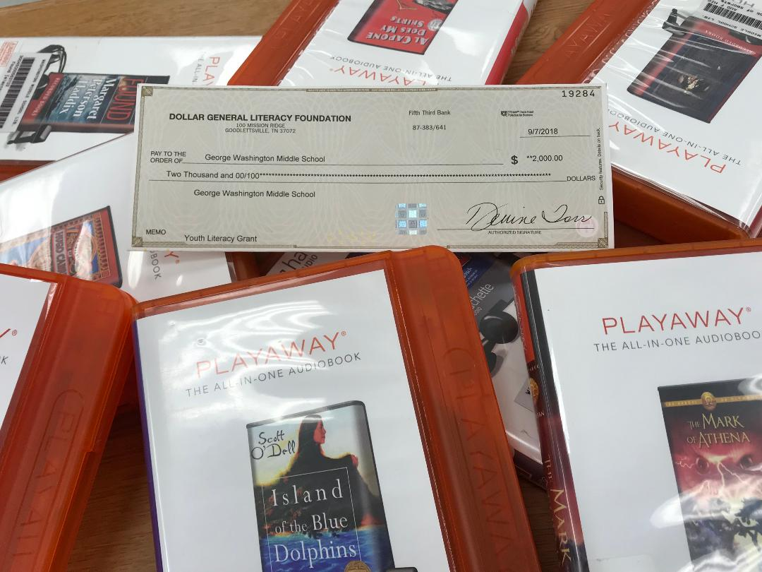 George Washington Middle School Library Receives 00