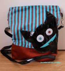 sac monstre noir vinyle