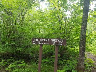 Trail head of Grand Portage