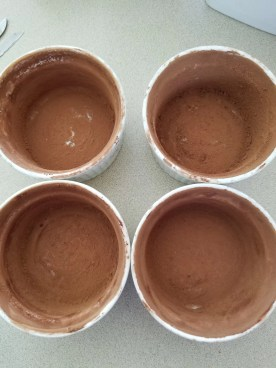Oiled and floured with cocoa powder