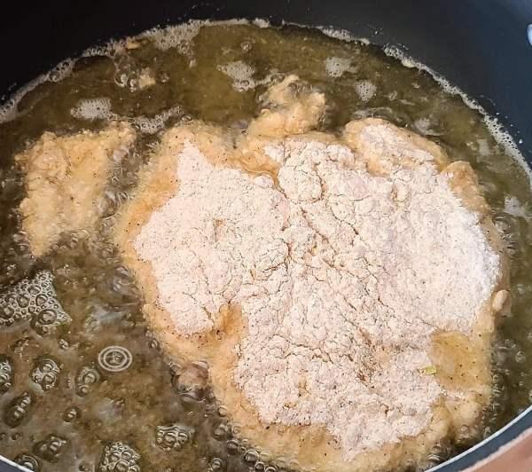 Frying in a pan