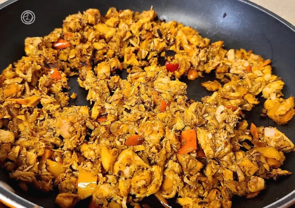 Cooked Chicken Taco meat for Chicken Taco Lettuce Wraps