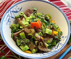 Gluten-Free Peppercorn Beef & Vegetables