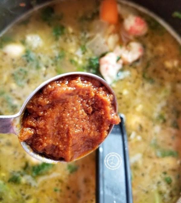 Adding Sun-Dried Tomato paste to the Bisque