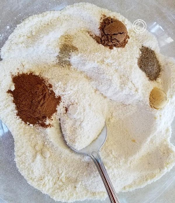 Gluten-Free Pumpkin Waffles dry ingredients