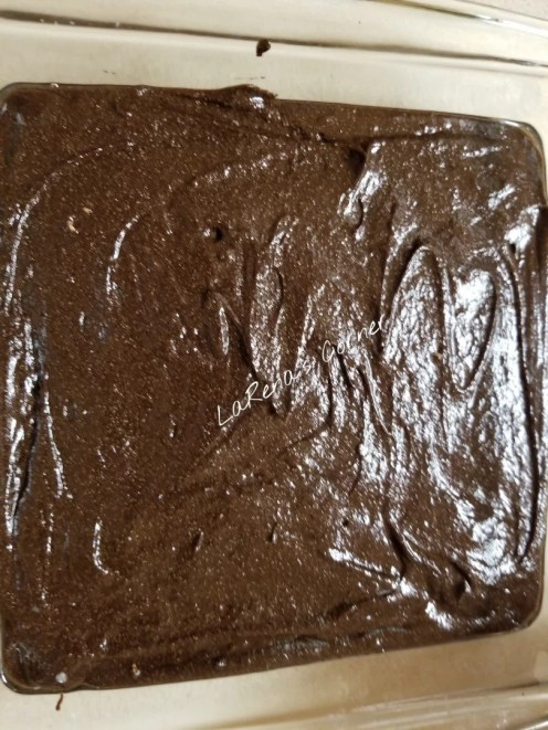 Brownie Batter ready to bake
