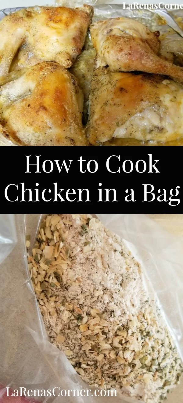 Cooking chicken in oven cooking bags