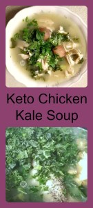 Keto Chicken Kale Soup made with bone broth, kale, and dairy-free milk. A hint of garlic and onions make this a quick easy soup to make on cold nights.