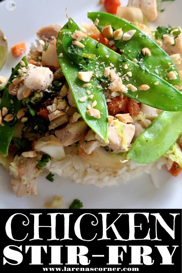 Chicken Stir-Fry on a white plate