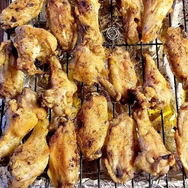 Gluten-Free Baked Chicken Wings Collage Baked wings and BBQ Wings