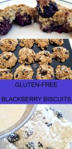 Gluten-Free Blackberry Biscuits that grain-free, refined sugar-free and dairy-free, infused with Earl Gray tea and made with coconut oil and coconut milk.