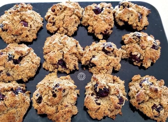 Gluten-Free Blackberry Biscuits Cooked