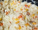 Cooking the cauliflower rice