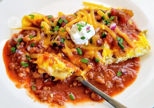 Chili Cheese Scramble For Two