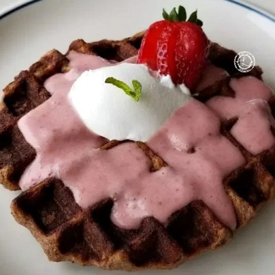 Gluten-Free Fresh Strawberry Waffles