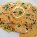 Cooked Keto Salmon with Harissa Curry Sauce