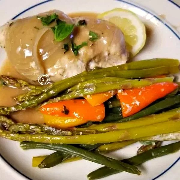 Cooked Chicken with vegetables