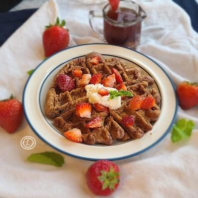 Gluten-Free Fresh Strawberry Waffles