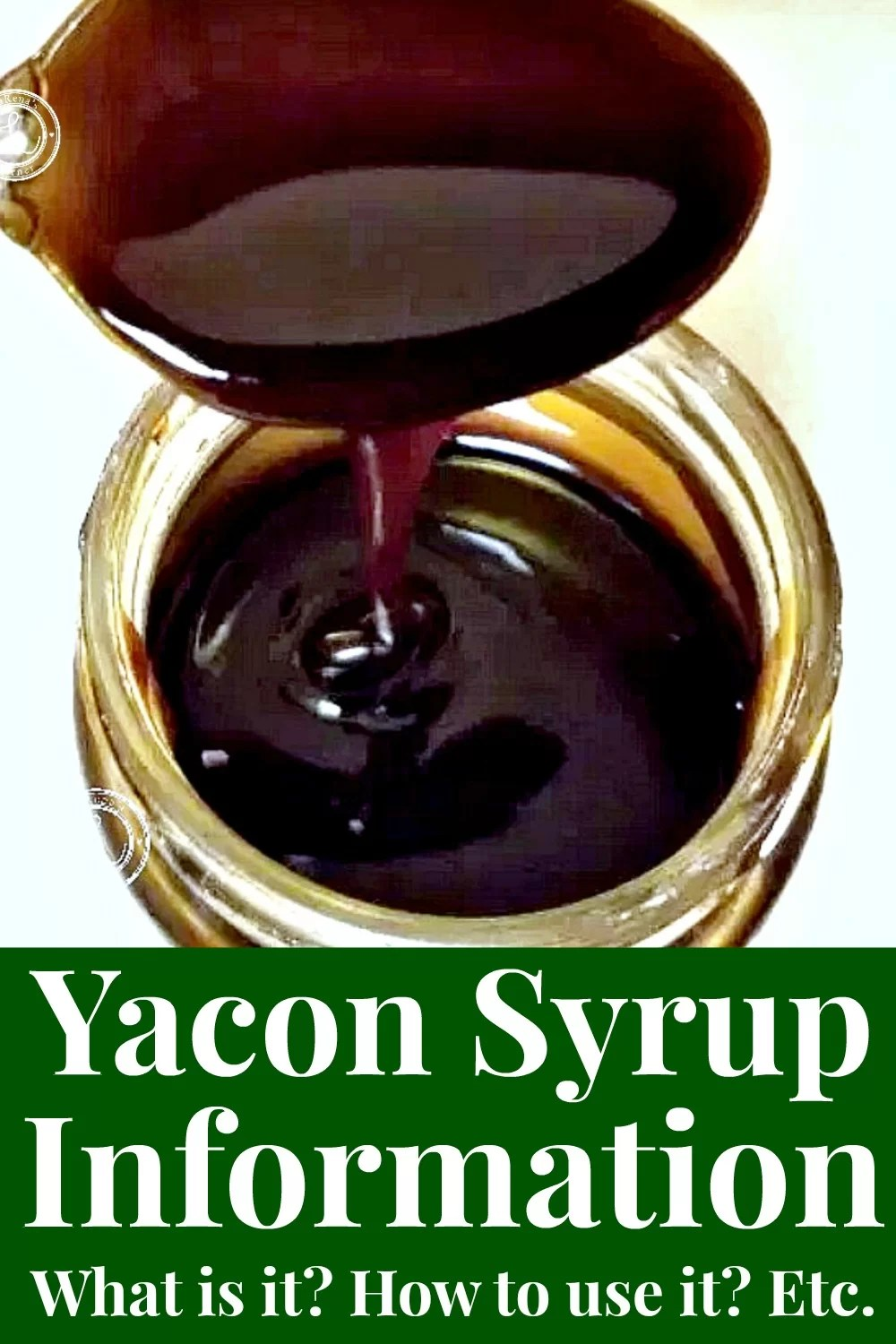 A spoon dripping Yacon Syrup