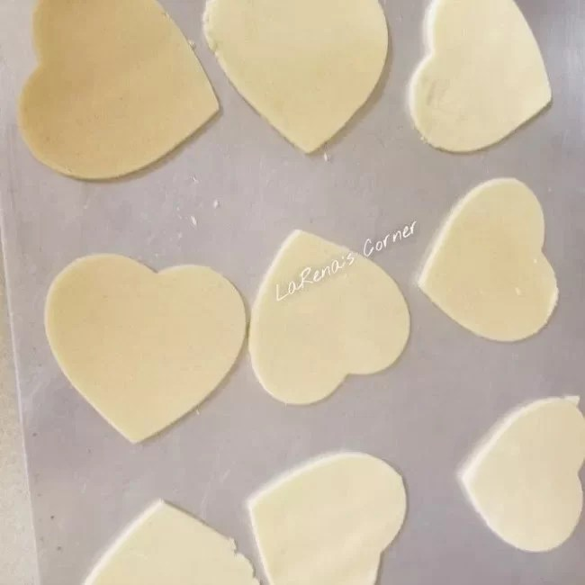 Cut out cookies ready to go in the oven