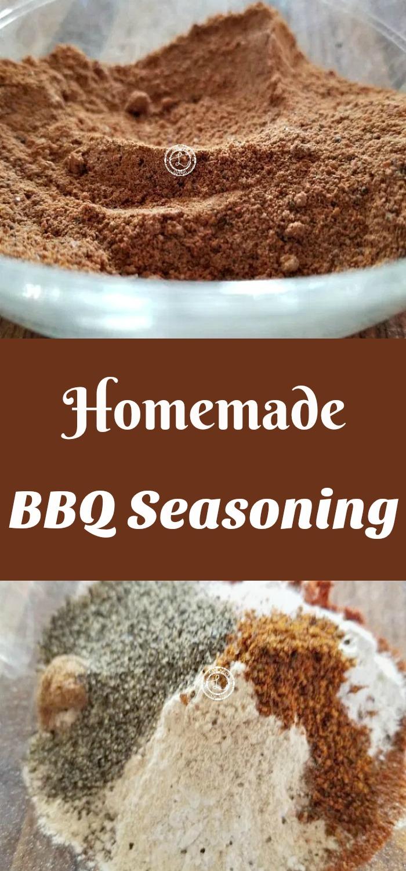 Collage: Top: Seasoning combined. Bottom: Seasonings before combing.