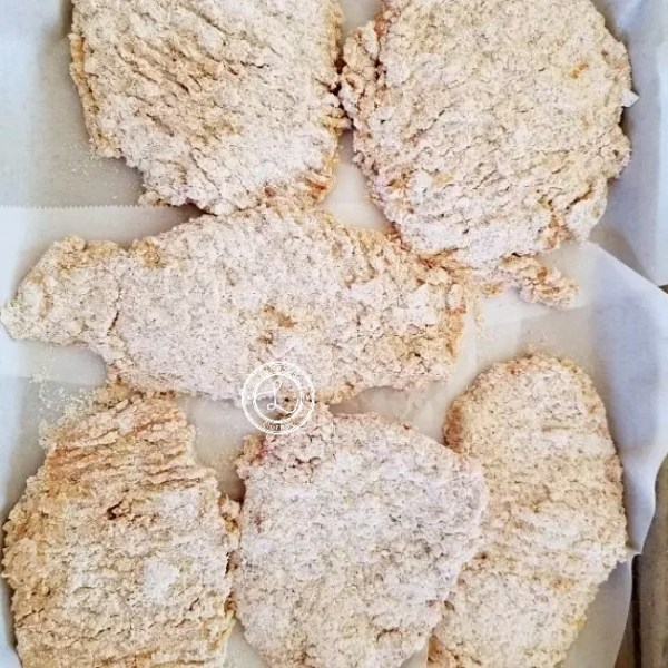 Fried Steak that have been dipped in egg and cassava flour