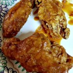 Fried Chicken Wings tossed in Homemade BBQ sauce