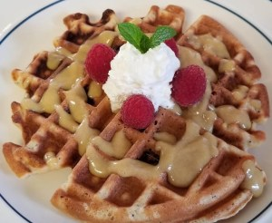 GLuten-Free Sweet and Tart Lemon Waffles Recipe