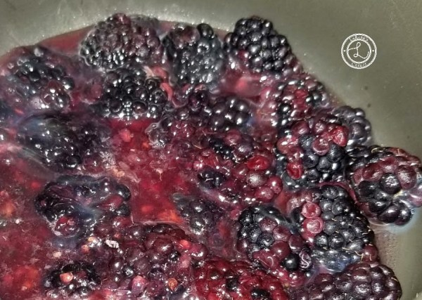 Blackberries cooking