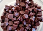Homemade Chocolate Chips in octagonshape