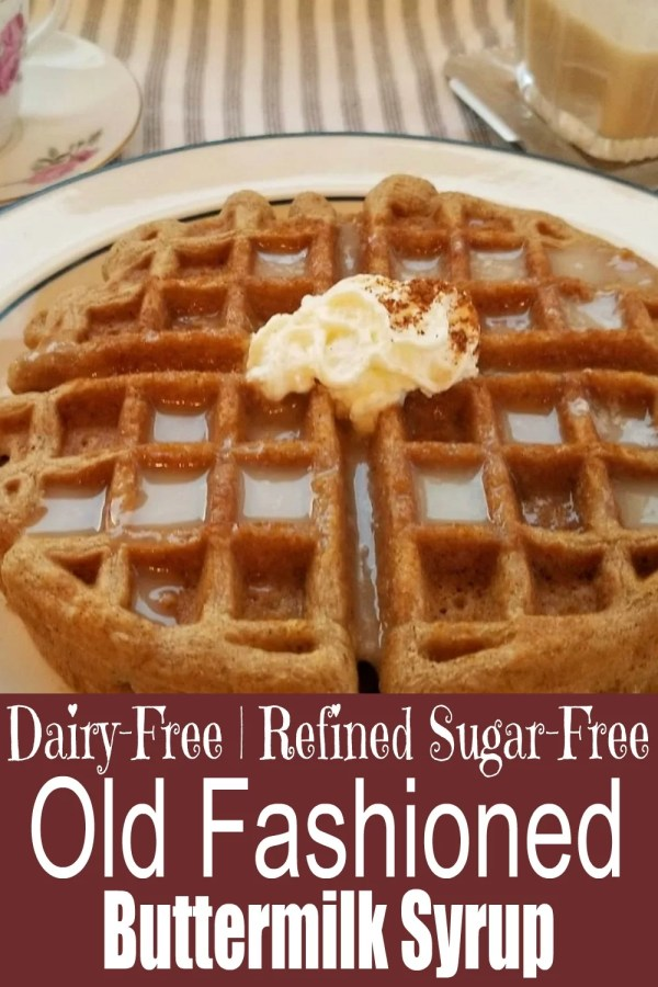 Old Fashioned Buttermilk Syrup on Gluten-Free Gingerbread Waffles