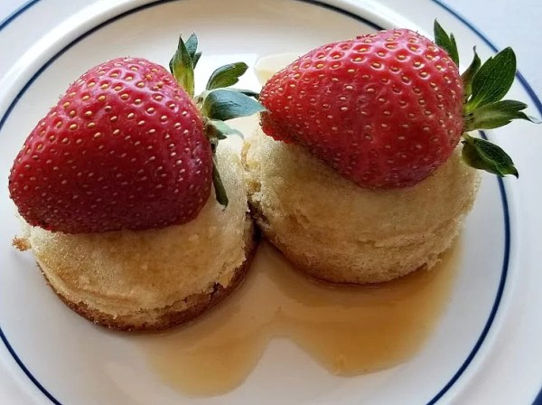 Plate with two Japanese Pancakes