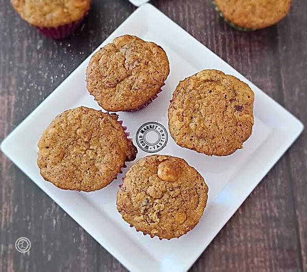 Gluten-Free Banana Muffins on a platter