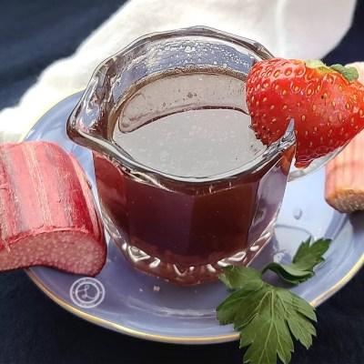 Refined Sugar-Free Rhubarb Syrup