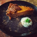 Piec of Speculaas Sweet Potato Pie on a plate