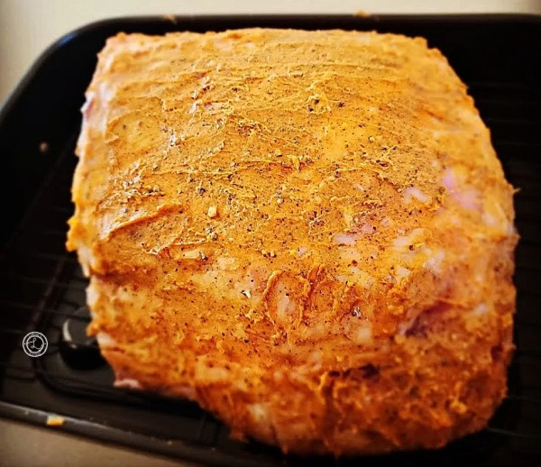 Roast with butter seasonings