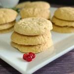 Gluten-Free Swedish Sugar Cookies Recipe on a white plate