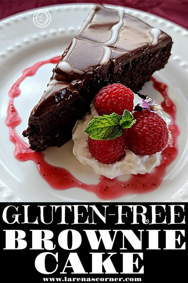 A piece of Gluten-Free Brownie Cake