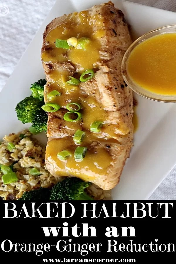 A picture of the Baked Fillet with an Orange-Ginger Reduction