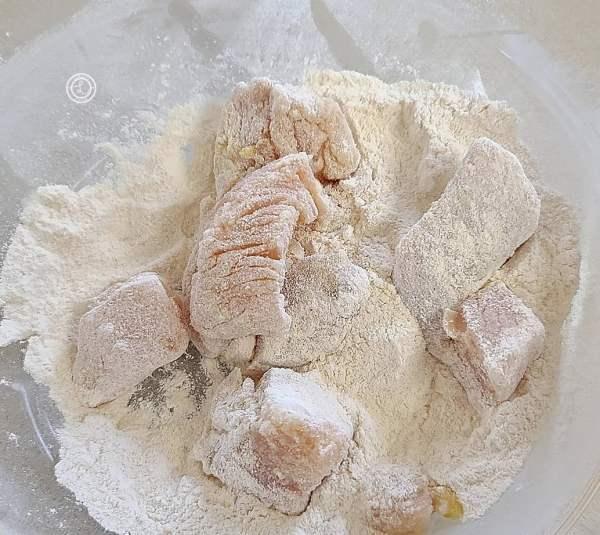 Dipping in cassava flour
