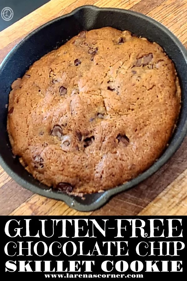 Gluten-Free Chocolate-Chip Skillet Cookies Recipe a warm cookie just out of the oven