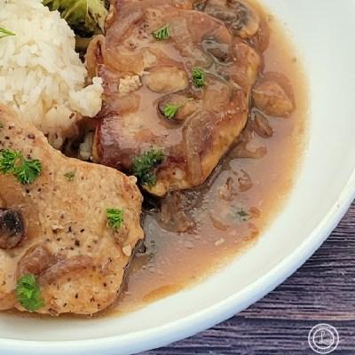 Smothered Onion-Mushroom Pork Chops