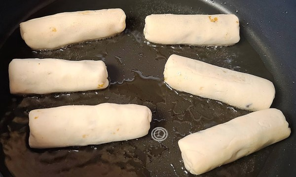 Frying the Egg Rolls