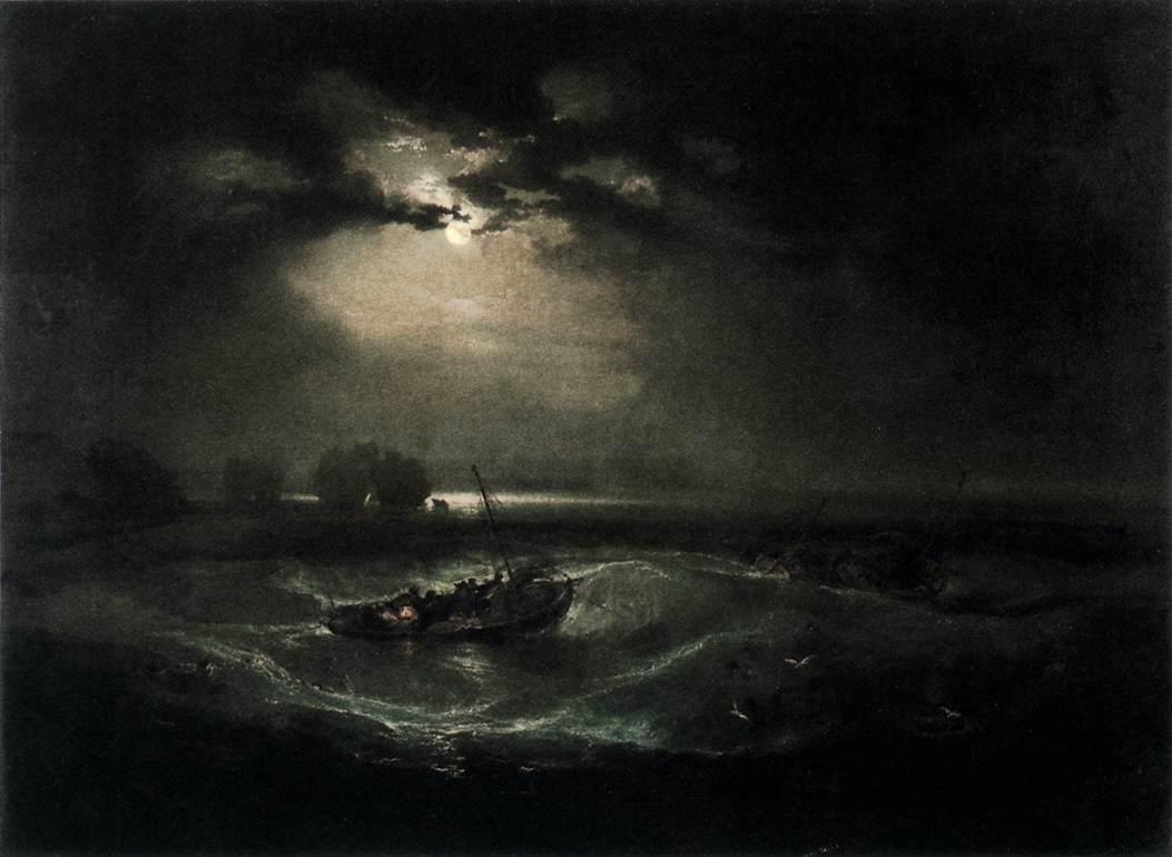 Joseph Mallord William Turner, Fishermen at Sea, c. 1796, Oil on canvas, 91 x 122 cm, Tate Gallery, London
