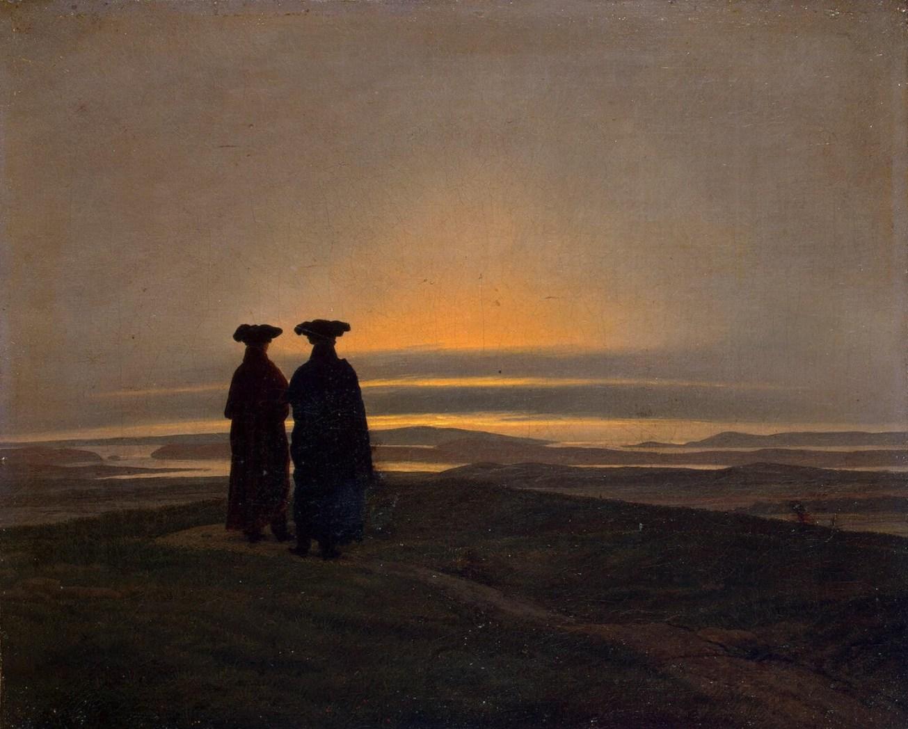 sunset_by_caspar_david_friedrich