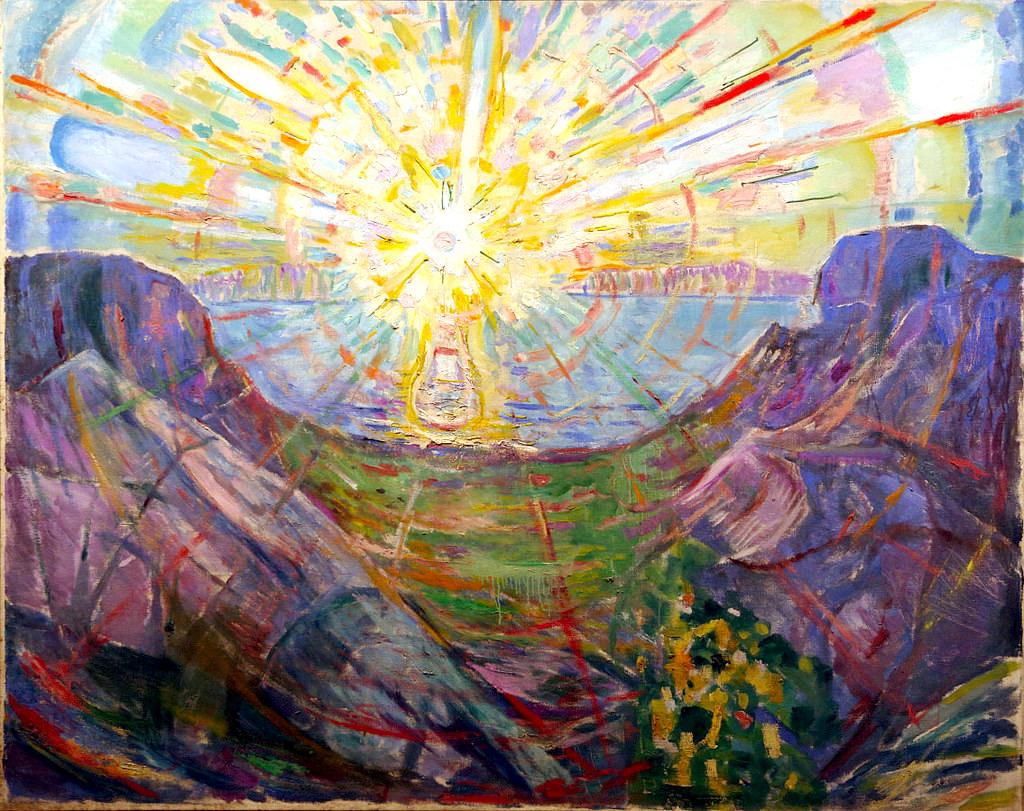 le soleil munch Huile sur toile 162 × 205 cm 1910-1913  Musée Munch, Oslo, Norvège